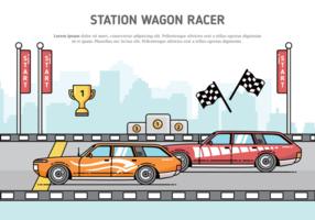 Station vagn vektor illustration