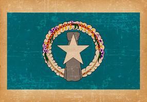 Grunge flagga av norra Marianerna