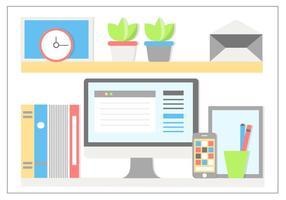 Gratis platta design vektor kontorselement