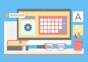 Gratis planlösning Vector Designer Desk