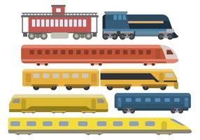 Plana tågvektorer vektor