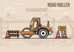 Road roller vecetor illustration vektor