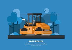 Road Roller Illustration