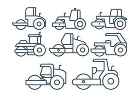 Steamroller vektor uppsättning