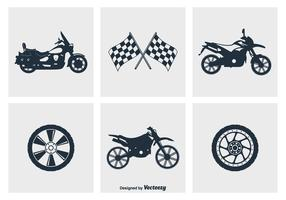 Motorrad Silhouette Vektor Icons
