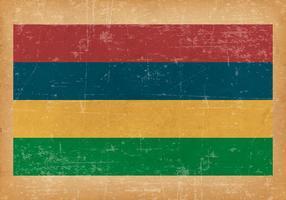 Grunge flagga Mauritius