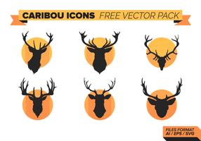 Caribou Ikoner Gratis Vector Pack