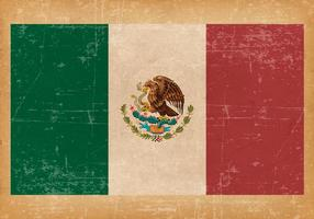 Grunge Flagge von Mexiko vektor