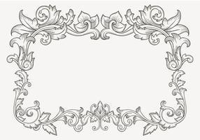Blommig vintage filigran gräns vektor