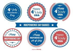 Independence day badge samling