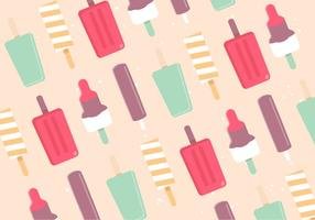Gratis Flat Design Vector Ice Cream Pattern