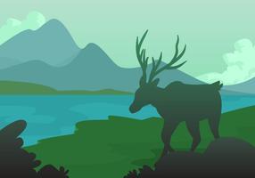 Caribou i skogen vektor