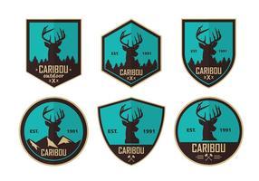 Caribou Blue Logos Freier Vektor