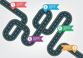 Roadmap-Darstellung vektor