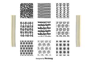Handgezeichneten Quadrat Set Vektor