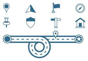 Roadmap Zeichen Icons