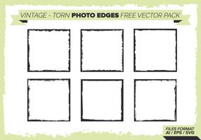 Vintage Torn Foto Kanten Free Vector Pack