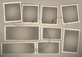 Weinlese-Foto-Rahmen vektor
