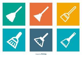 Besen Symbol Sammlung vektor
