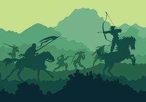 Kavalleri vektor bakgrund