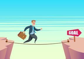 Man som går på tightrope