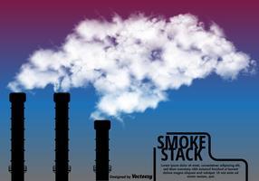 Vektor industrianläggning smokestack
