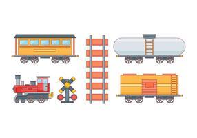 Free Unique Train Set Vektoren