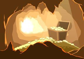 Skatt i grottan fri vektor