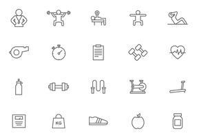 Personlig tränare och fitnessvektorer