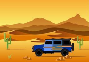 Straße zum Wüstenvektor