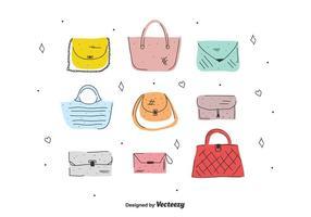 Kvinna väskor vektor