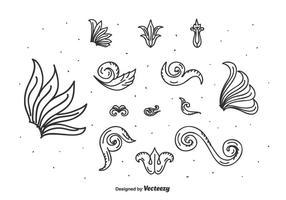 Blommig ornament vektor