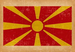 Grunge flagga Makedonien