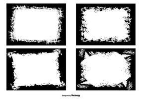 Grunge fotkanter samling vektor