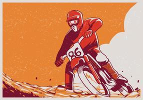 Sportler macht Motocross vektor
