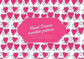 Bunte Hand gezeichnete Herzen Muster vektor