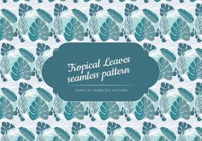 Tropiska löv vektor mönster