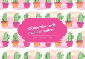 Gullig Cacti Vector Mönster