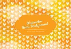 Gul Hjärtan Akvarell Vector Bakgrund