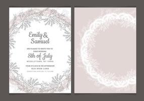 Delikat Vector Bröllop Inbjudan