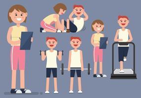Personal Trainer Fitness Frau Vektor