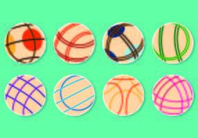 Set von Bocce Ball Vektoren