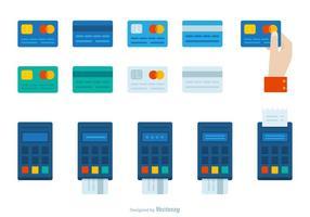 Retail Point Of Sale System Med Kreditkort Behandling vektor