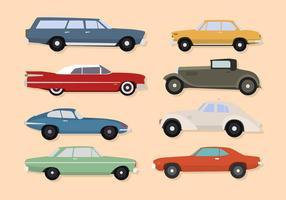Platta klassiska bilvektorer vektor