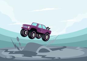 Auto springen vektor