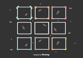 Fotokanter vektor