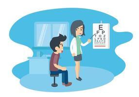 Augen-Test-Illustration vektor