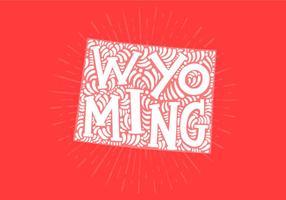 Wyoming state lettering vektor