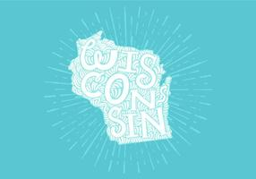 Wisconsin state lettering vektor