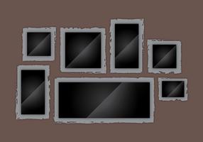 Fotoramar kanter realistiska vektor